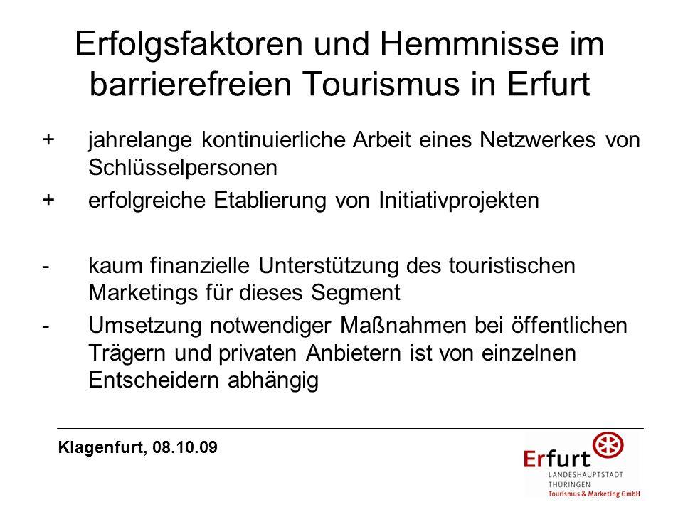 Erfolgsfaktoren und Hemmnisse im barrierefreien Tourismus in Erfurt