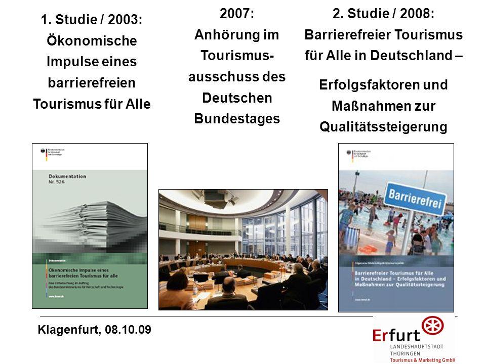 2007: Anhörung im Tourismus-ausschuss des Deutschen Bundestages