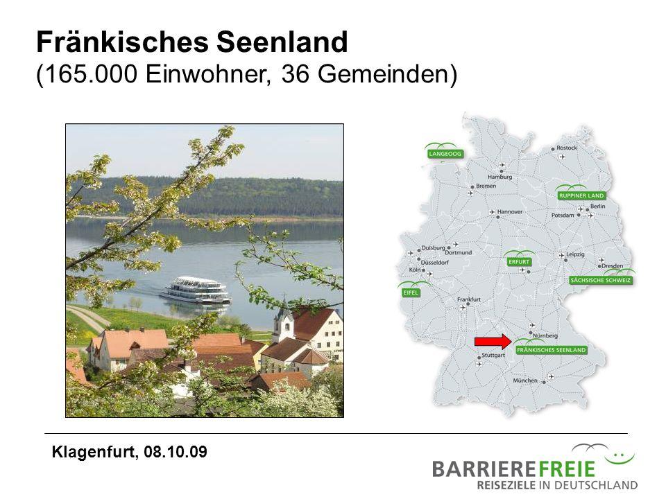 Fränkisches Seenland (165.000 Einwohner, 36 Gemeinden)