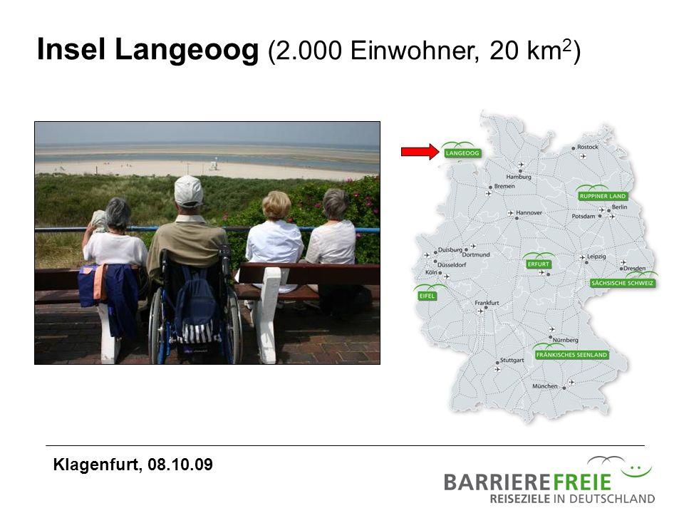 Insel Langeoog (2.000 Einwohner, 20 km2)