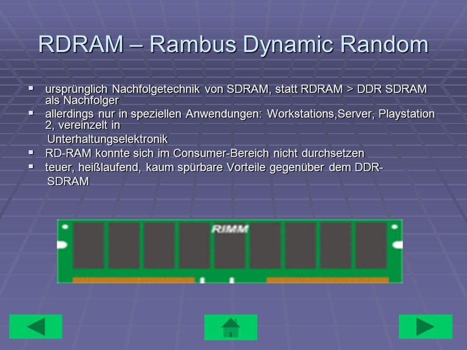 RDRAM – Rambus Dynamic Random