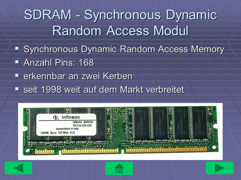 SDRAM - Synchronous Dynamic Random Access Modul