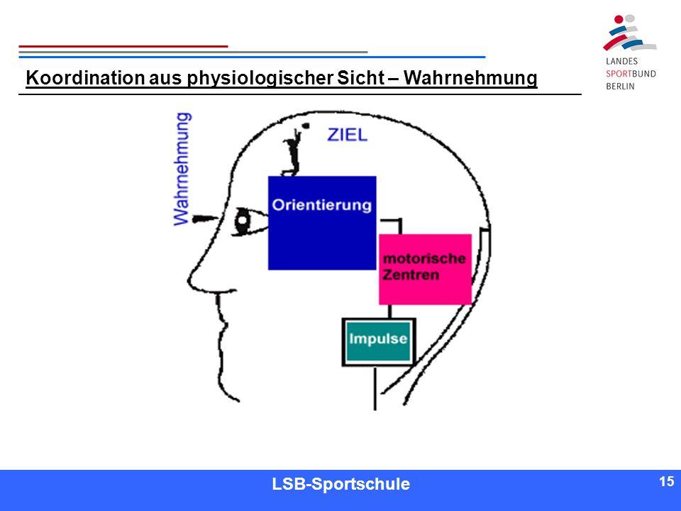 Koordination aus physiologischer Sicht – Wahrnehmung