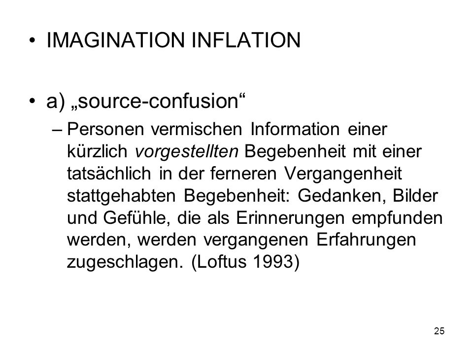 "IMAGINATION INFLATION a) ""source-confusion"