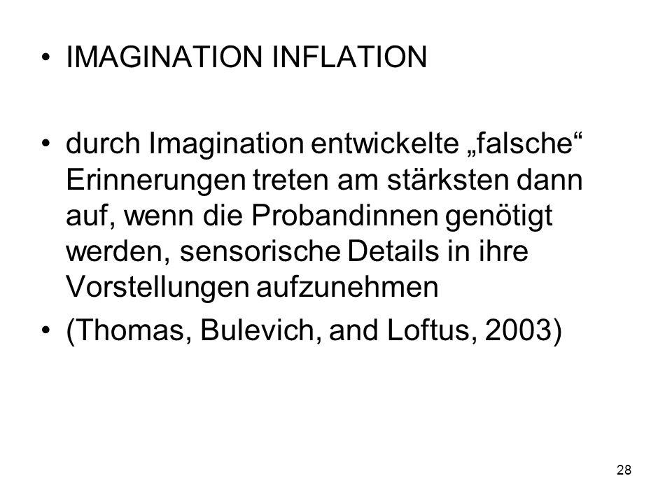 IMAGINATION INFLATION