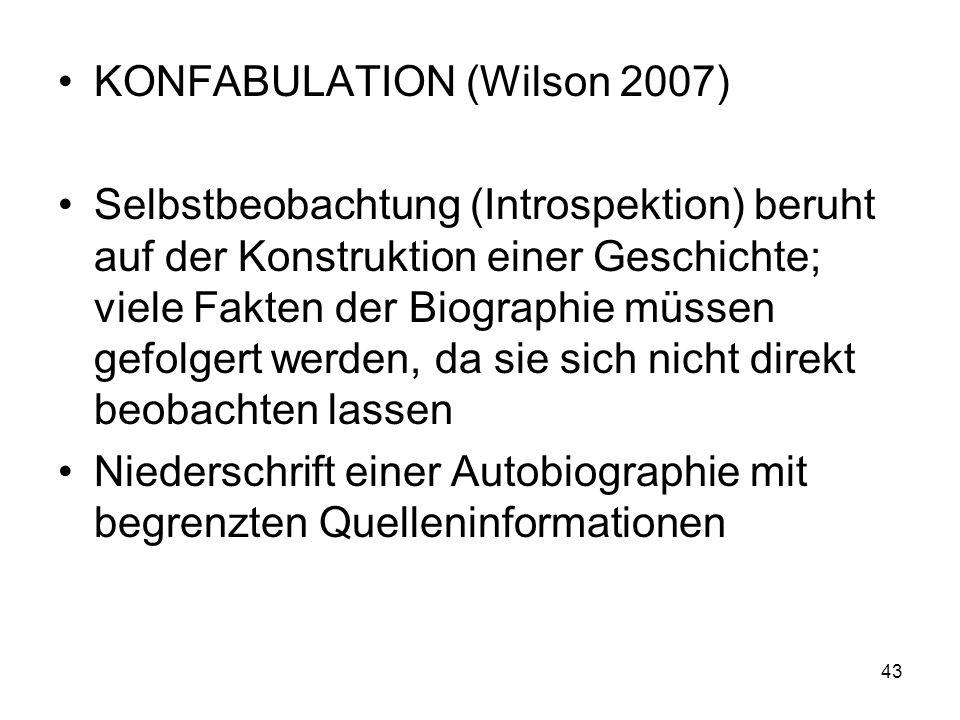 KONFABULATION (Wilson 2007)