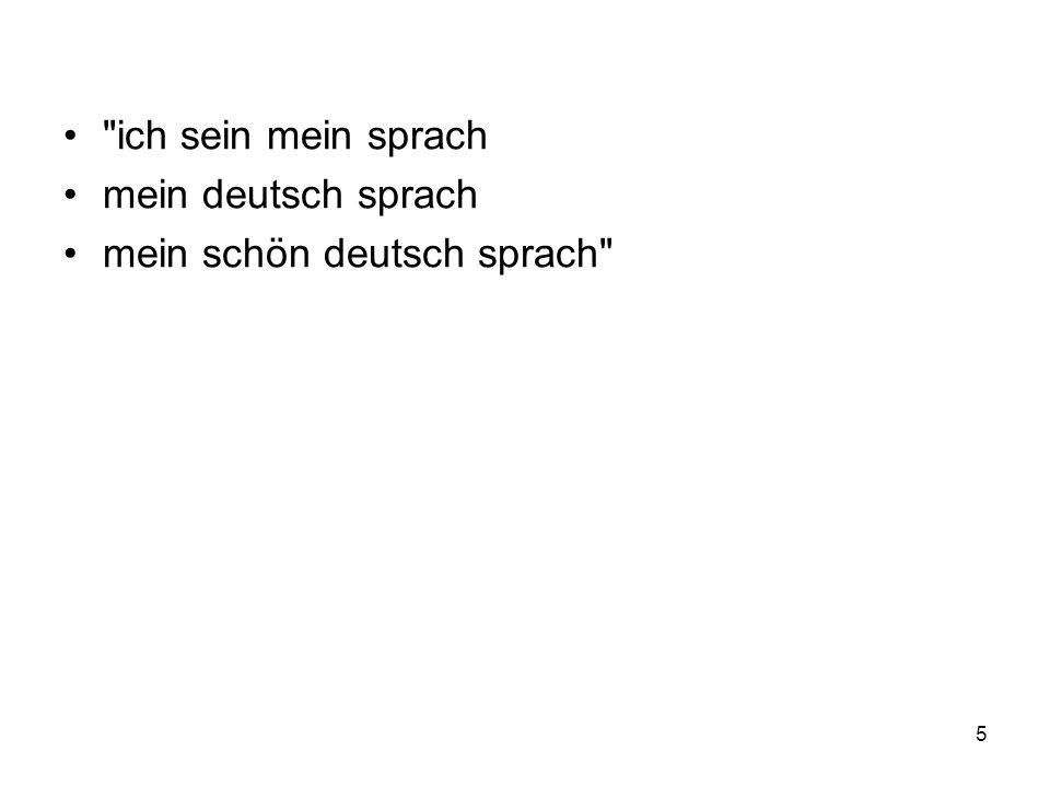 ich sein mein sprach mein deutsch sprach mein schön deutsch sprach