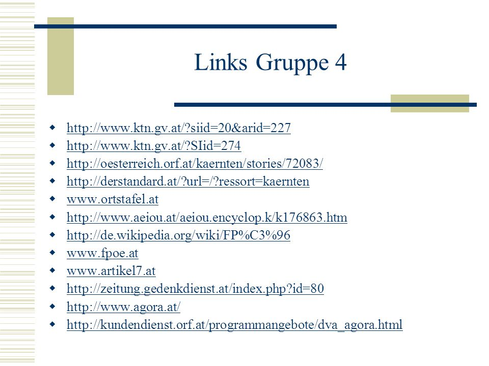 Links Gruppe 4   siid=20&arid=227
