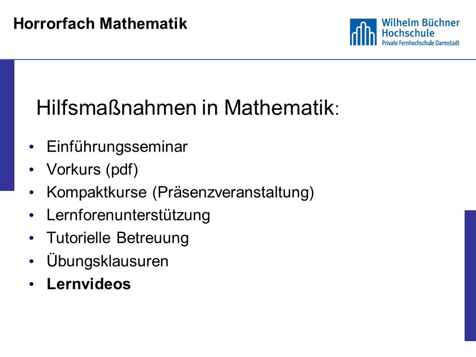 Horrorfach Mathematik