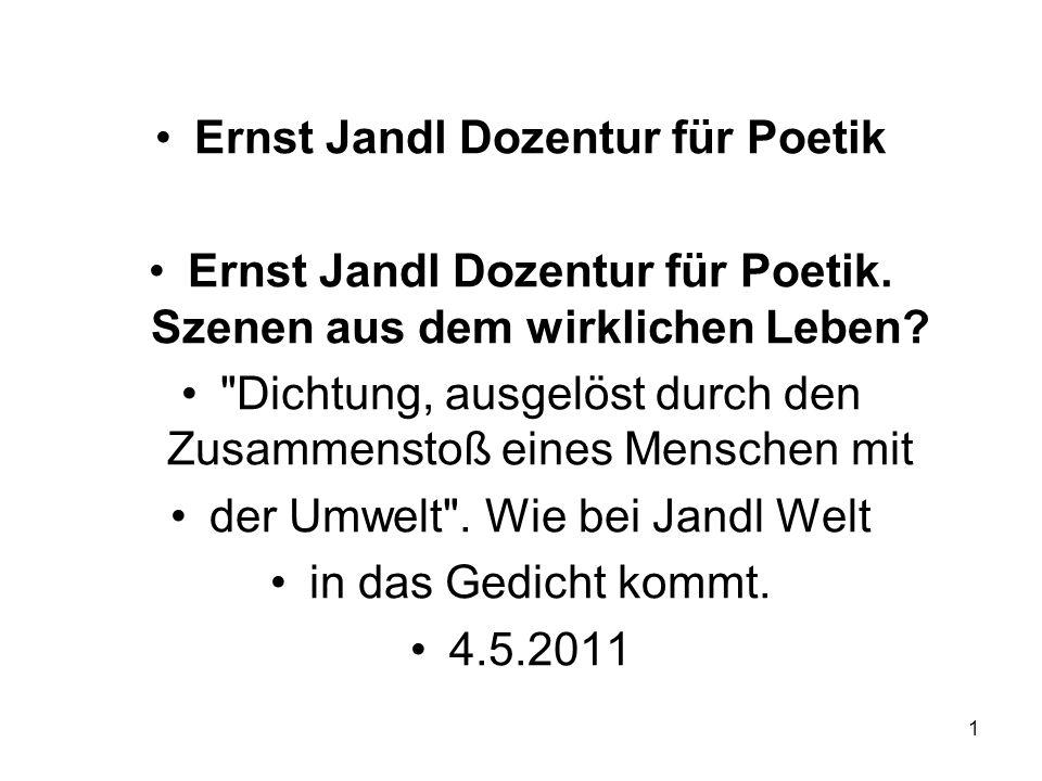 Ernst Jandl Dozentur für Poetik