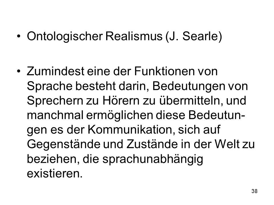 Ontologischer Realismus (J. Searle)