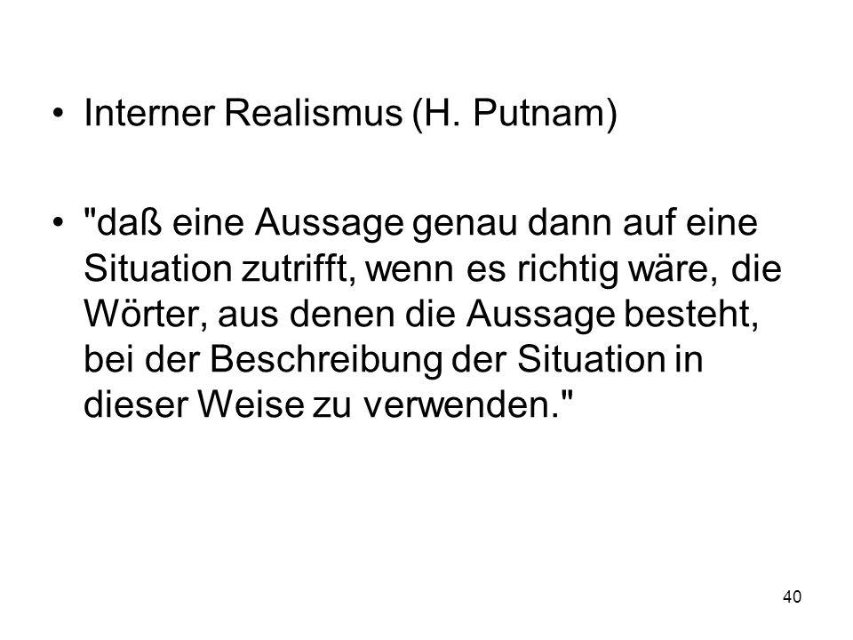 Interner Realismus (H. Putnam)