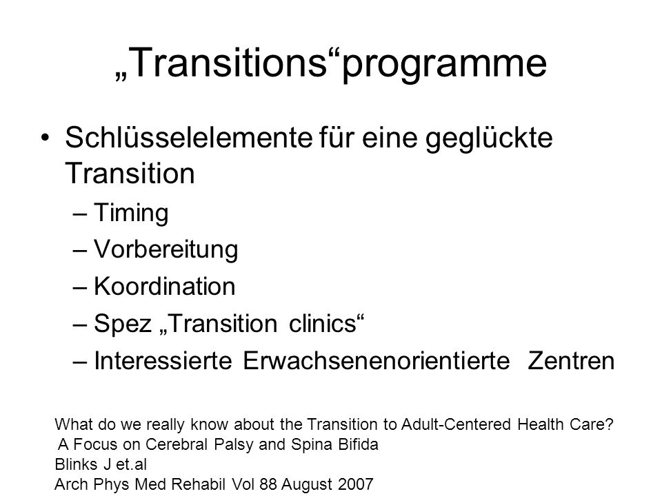 """Transitions programme"