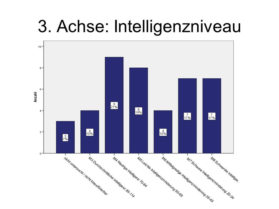 3. Achse: Intelligenzniveau