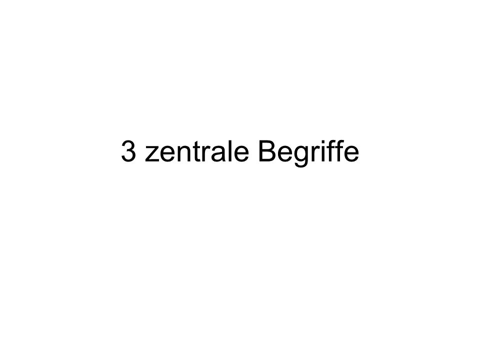 3 zentrale Begriffe