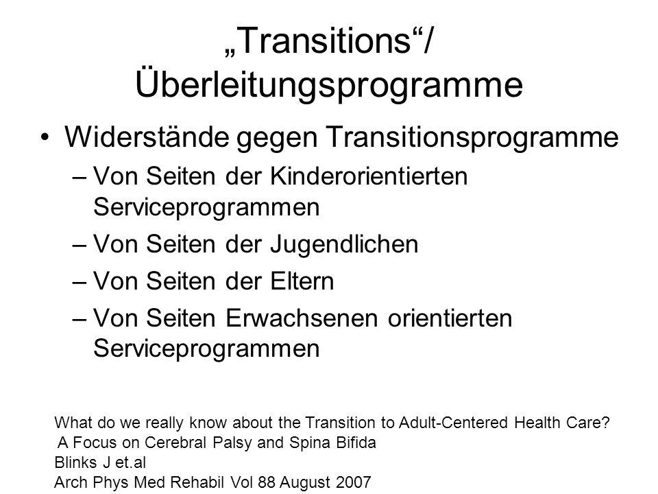 """Transitions / Überleitungsprogramme"