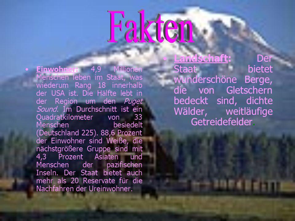 Fakten Landschaft: Der Staat bietet wunderschöne Berge, die von Gletschern bedeckt sind, dichte Wälder, weitläufige Getreidefelder.