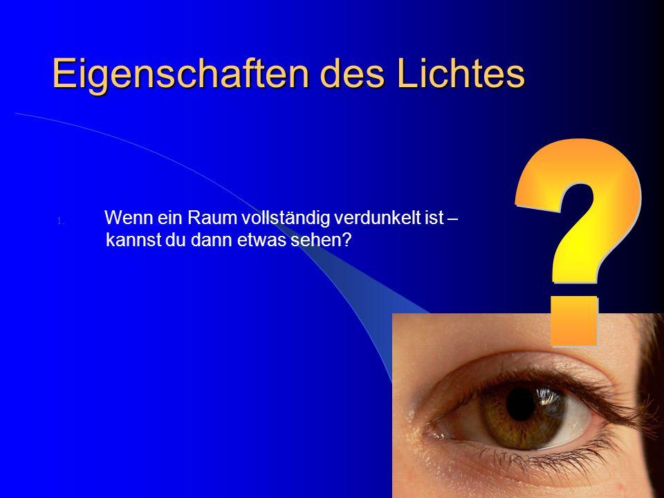 Eigenschaften des Lichtes
