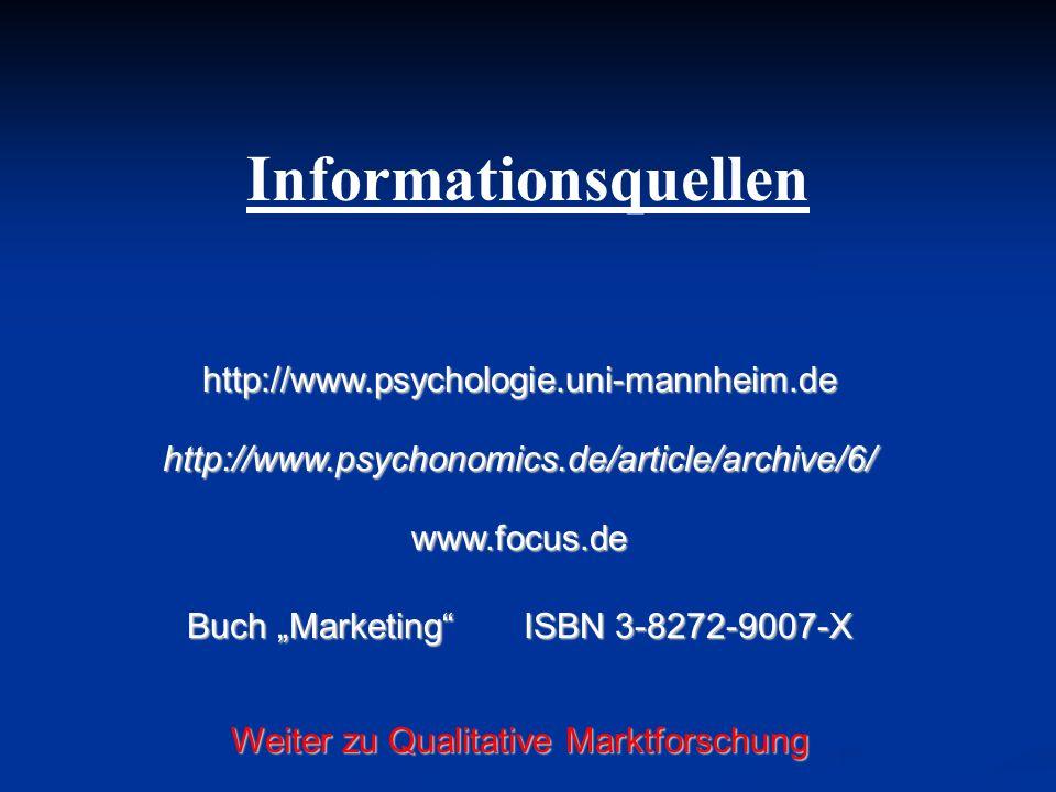 Informationsquellen http://www.psychologie.uni-mannheim.de