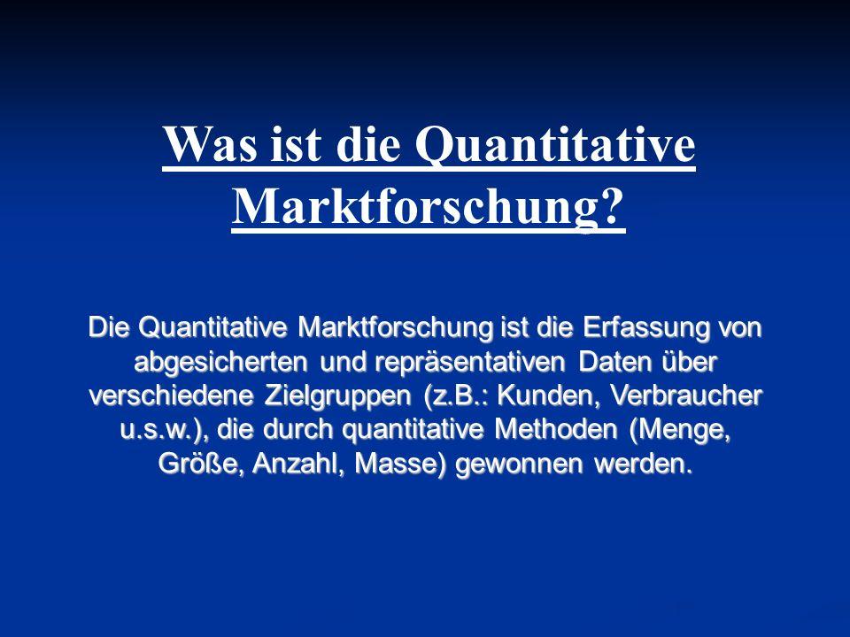 Was ist die Quantitative Marktforschung