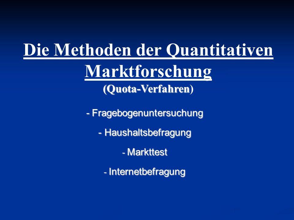Die Methoden der Quantitativen Marktforschung (Quota-Verfahren)