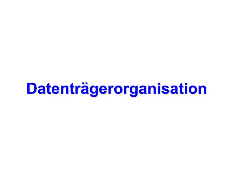 Datenträgerorganisation