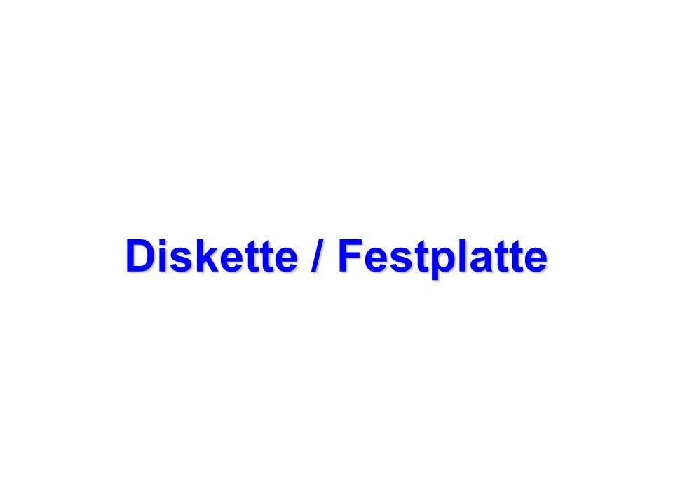 Diskette / Festplatte