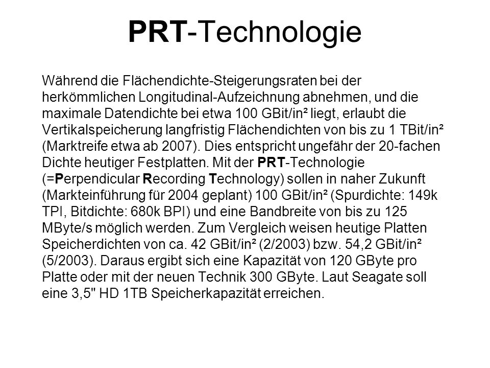 PRT-Technologie