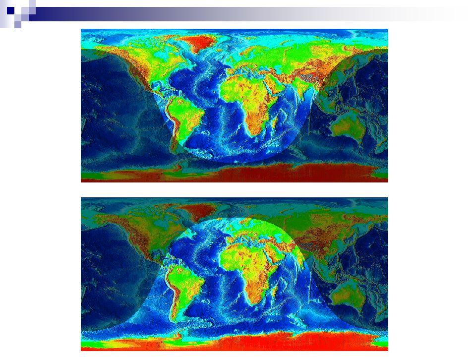 Einstrahlung im Nordhalbkugel-Sommer (oben) und –Winter (unten) (Erstellt mit Homeplanet)