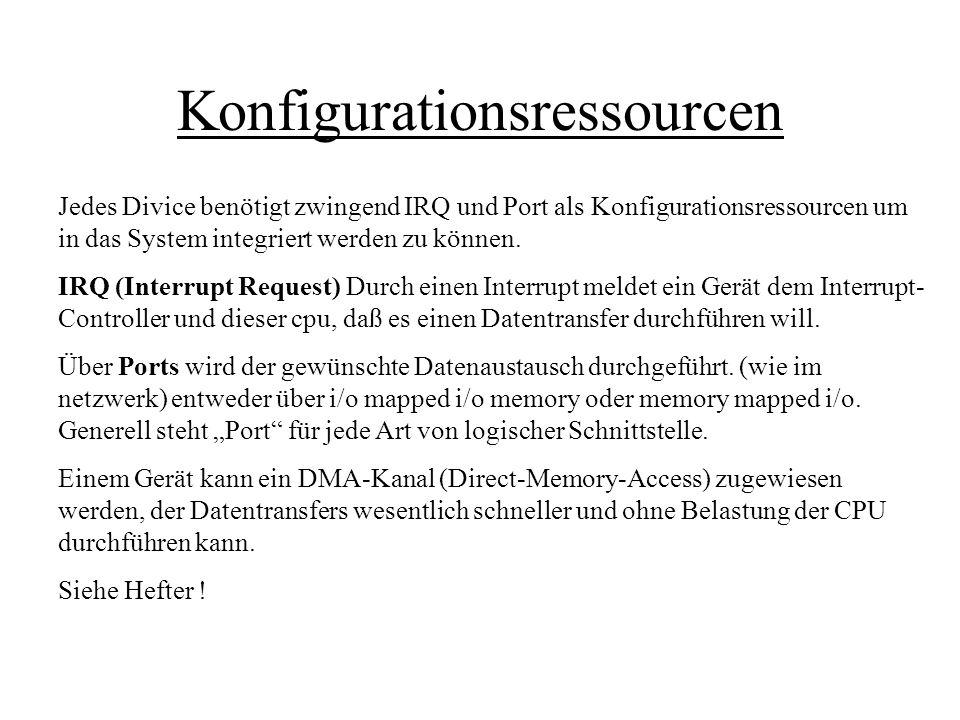 Konfigurationsressourcen