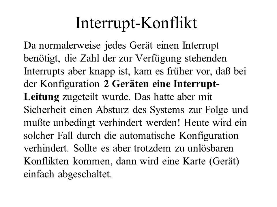 Interrupt-Konflikt