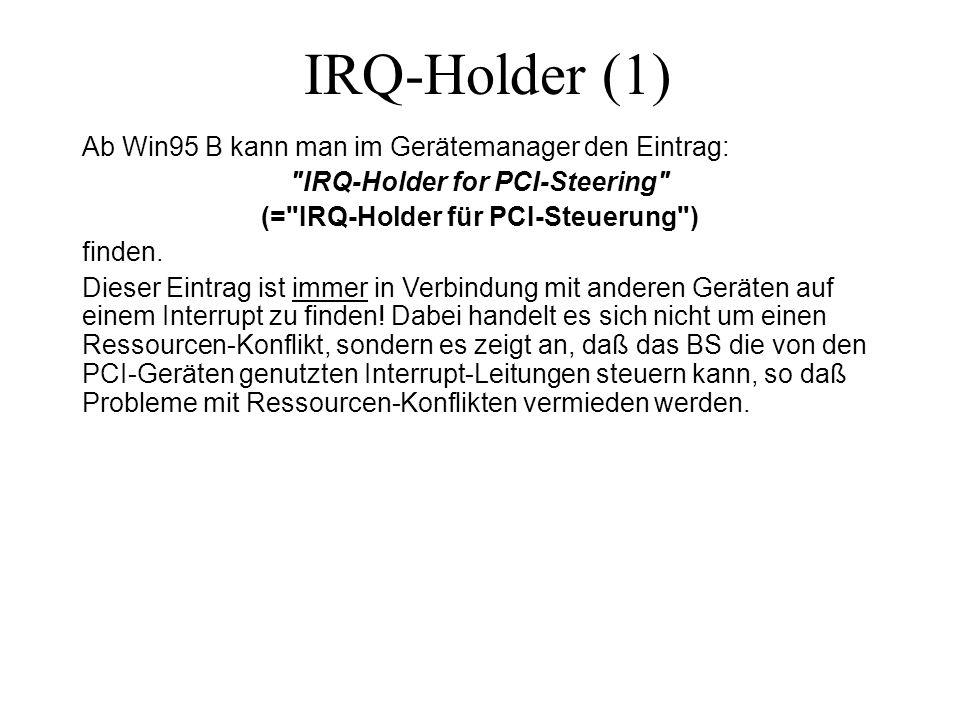 IRQ-Holder for PCI-Steering (= IRQ-Holder für PCI-Steuerung )