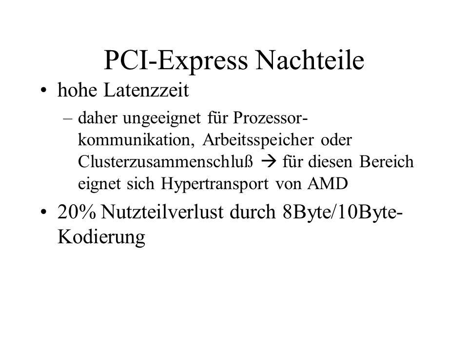 PCI-Express Nachteile