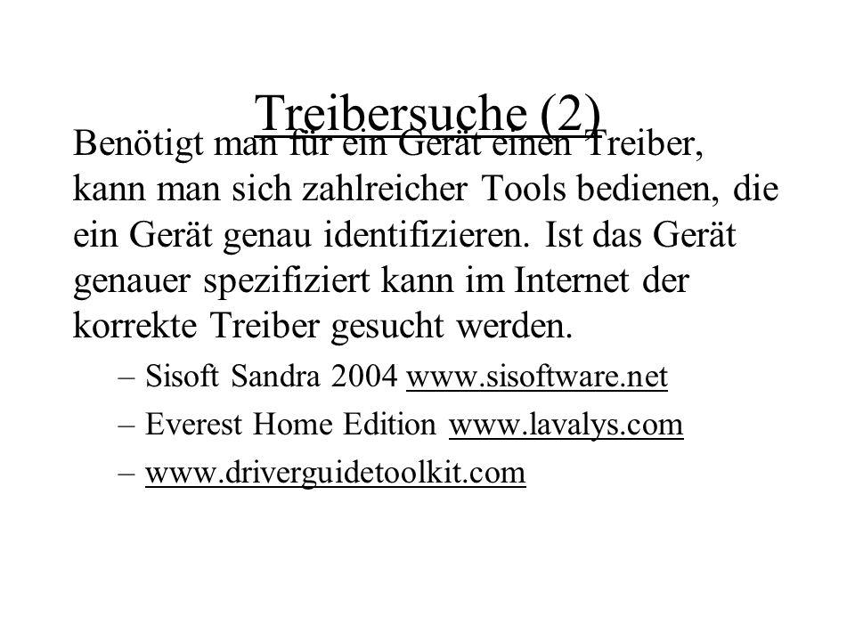 Treibersuche (2)