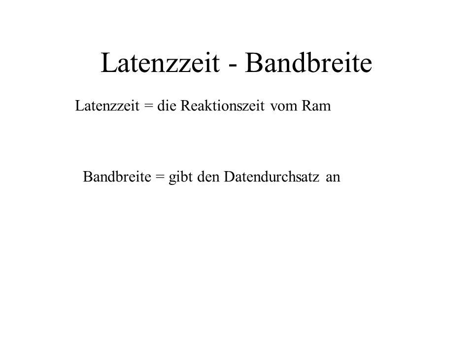 Latenzzeit - Bandbreite