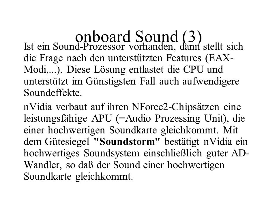onboard Sound (3)