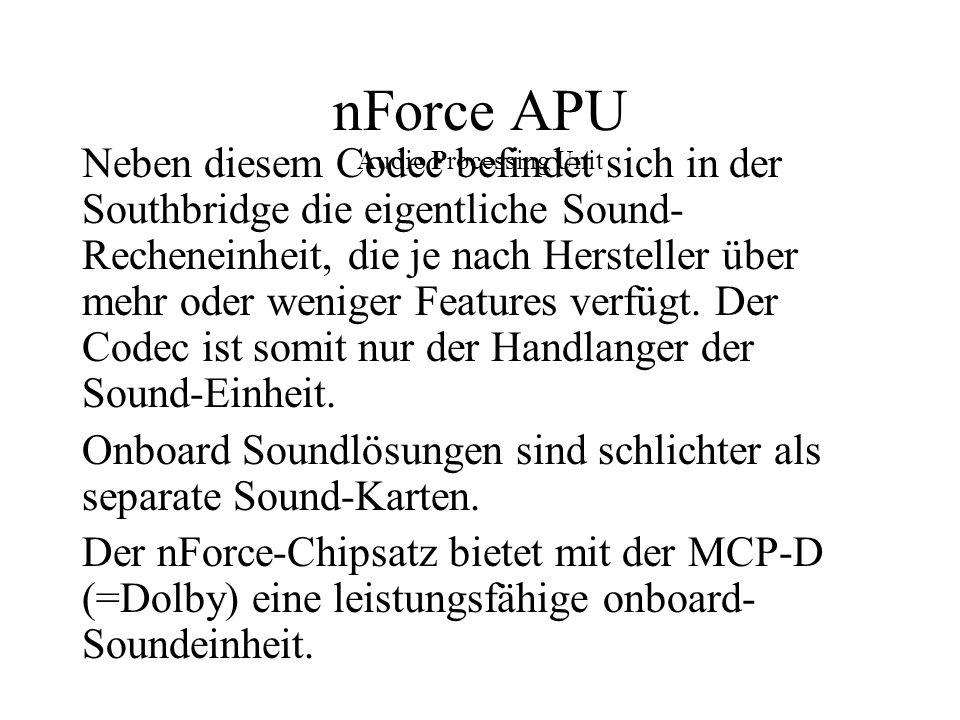 nForce APU Audio Processing Unit