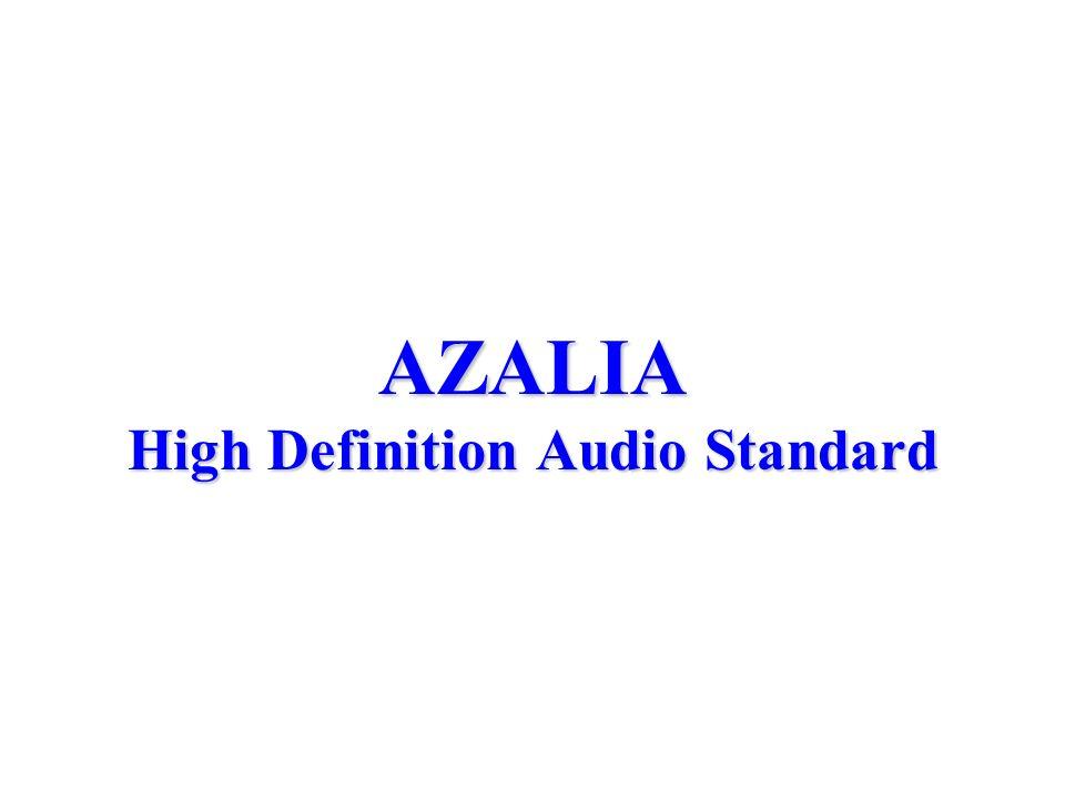 AZALIA High Definition Audio Standard