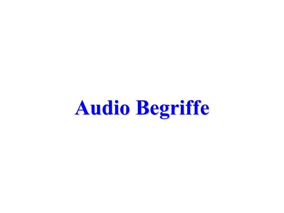 Audio Begriffe