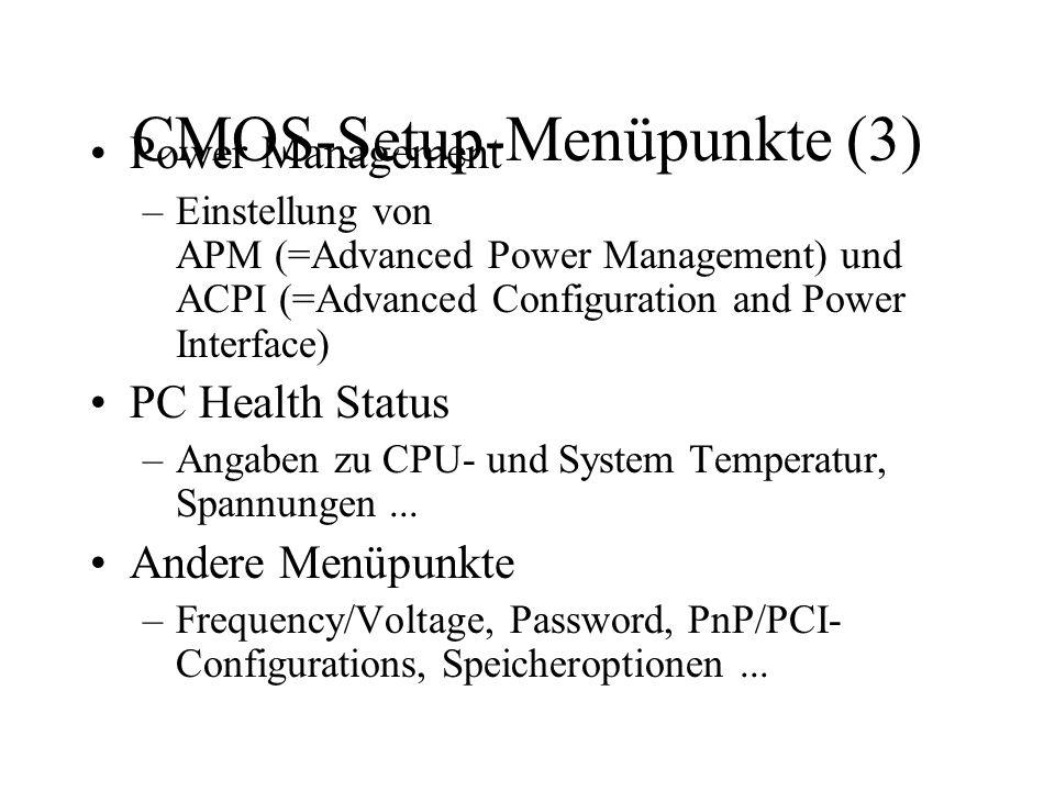 CMOS-Setup-Menüpunkte (3)