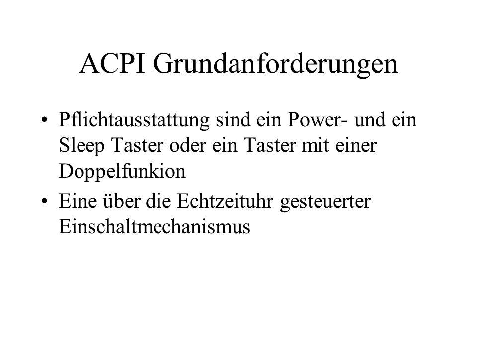 ACPI Grundanforderungen