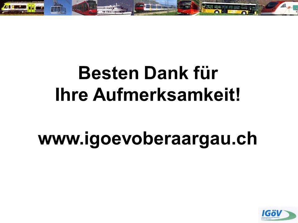 Besten Dank für Ihre Aufmerksamkeit! www.igoevoberaargau.ch