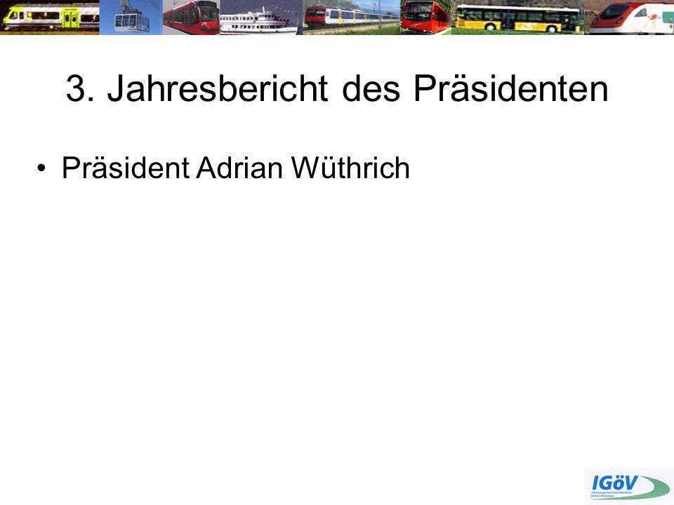3. Jahresbericht des Präsidenten