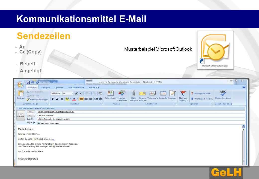 Kommunikationsmittel E-Mail