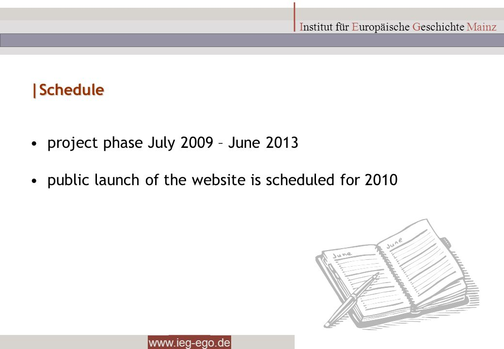 project phase July 2009 – June 2013