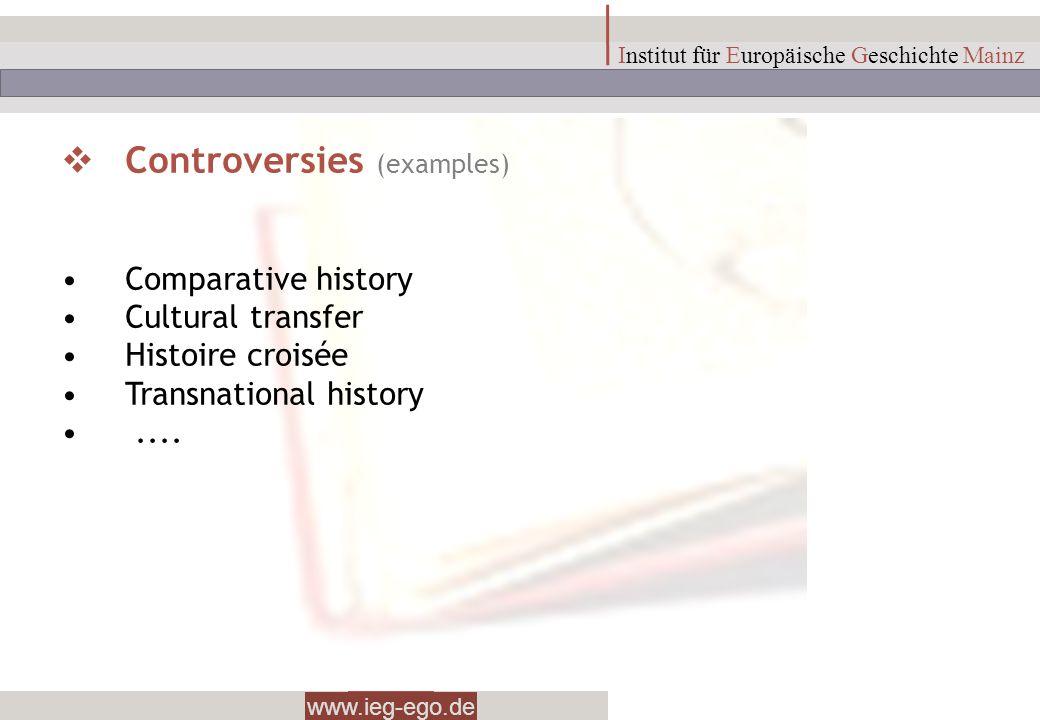 Controversies (examples)