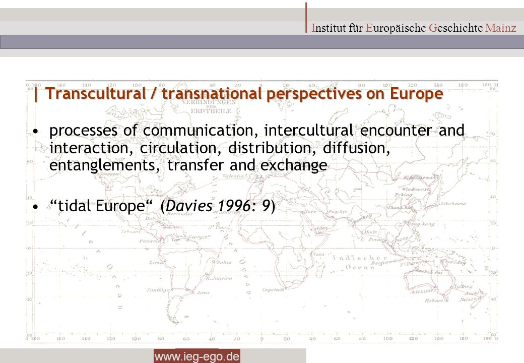 | Transcultural / transnational perspectives on Europe