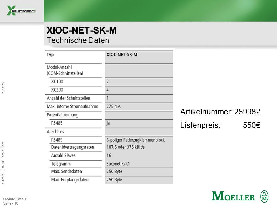XIOC-NET-SK-M Technische Daten