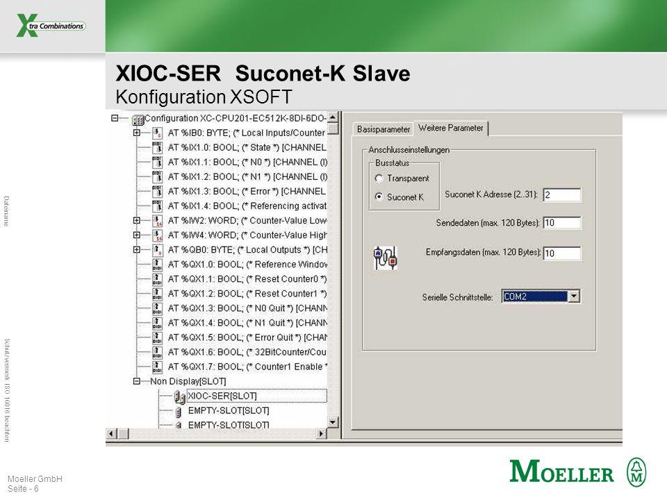 XIOC-SER Suconet-K Slave Konfiguration XSOFT