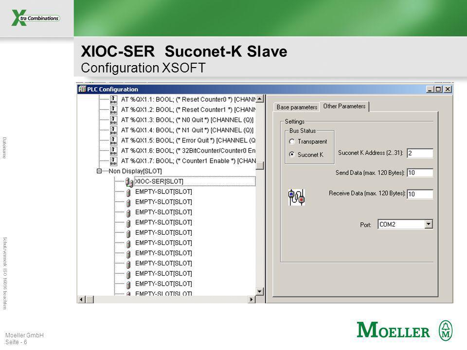 XIOC-SER Suconet-K Slave Configuration XSOFT